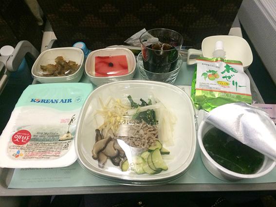 大韓航空機内食ビビンバ