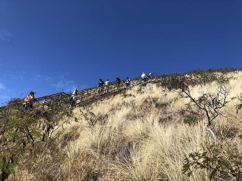 レアレアトロリーでダイヤモンドヘッド登頂